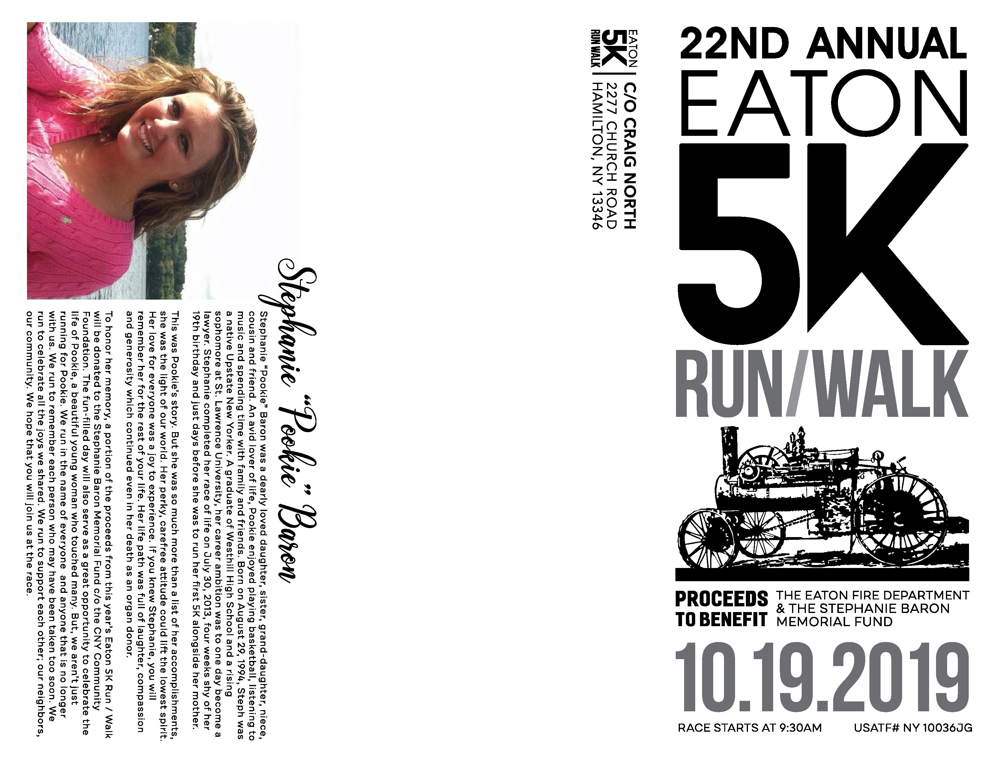 22nd Annual Eaton 5K Run/Walk