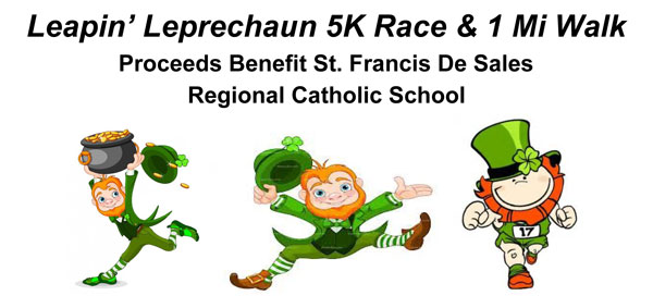 **Cancelled** Leapin' Leprechaun 5K Race & 1 Mile Walk